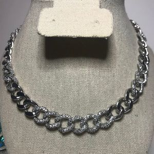 VINTAGE KENNETH JAY LANE CURB CHAIN PAVE CHOKER